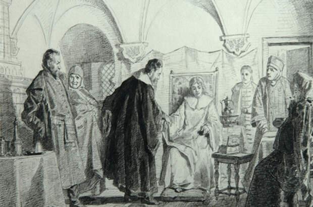 Мария Хлопова на рисунке Николая Неврева