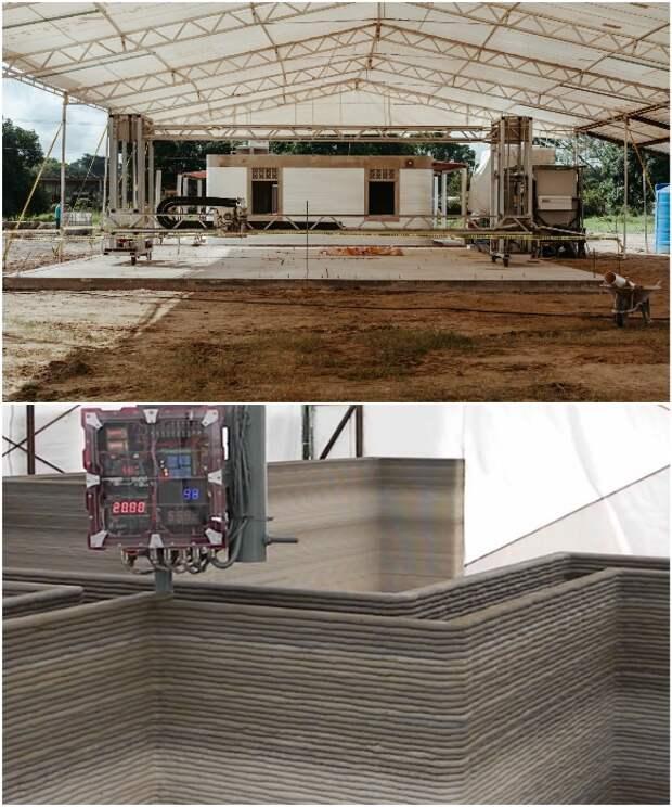 Строительство усложняется постоянными дождями, поэтому приходится делать над стройплощадкой крышу.   Фото: yaplakal.com/ habr.com. © New Story.