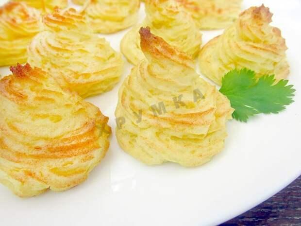 Запеченное картофельное пюре - оно красиво смотрится и на вкус просто изумительно!