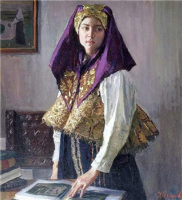 Глазунов И.И.        В Нижегородском костюме