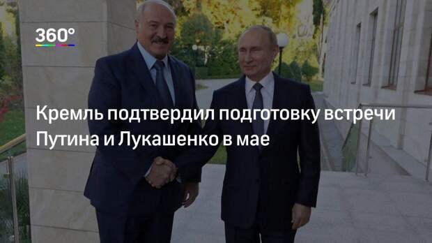 Кремль подтвердил подготовку встречи Путина и Лукашенко в мае