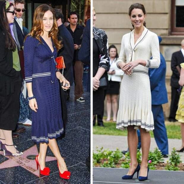 сара джессика паркер и кейт миддлтон в одинаковых платьях