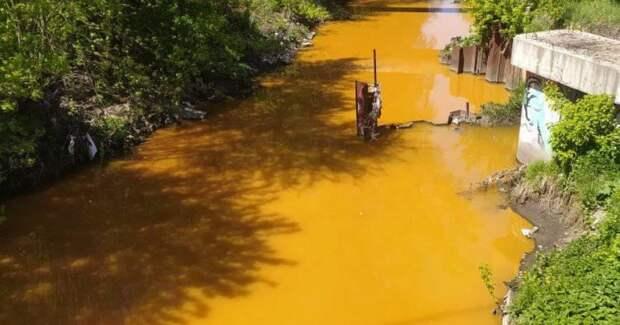 Виноваты строители: власть объяснила, почему Лыбидь стала ядовито-желтой