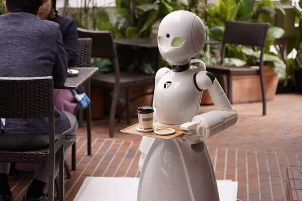 Реальный робот официант в одном из японских ресторанов пока в маркетинговых целях, но вскоре роботы и автоматизация уже создадут реальное давление на рабочие места.