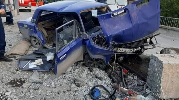 Три человека пострадали ваварии наремонтируемом мосту вТаганроге
