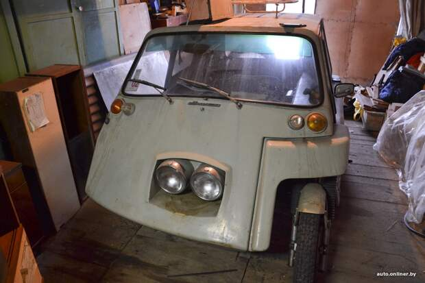 В Минске обнаружили уникальный автомобильчик, сделанный из мотоцикла Jawa