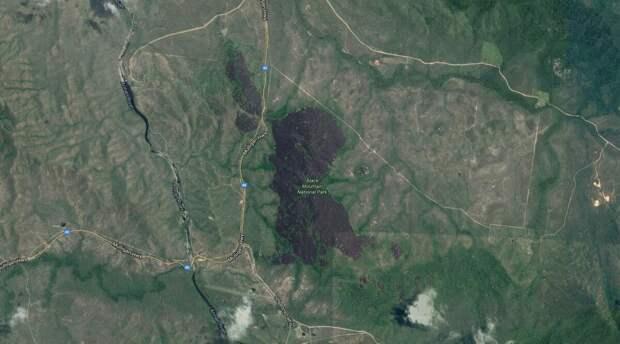 Так выглядит гора со спутника из космоса