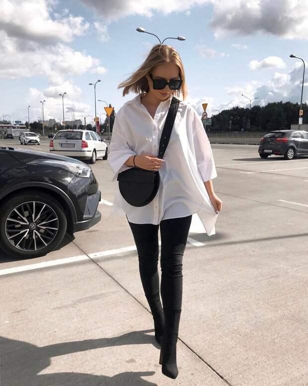 Как носить классическую белую рубашку в 2021 году: 12 стильных идей на каждый день