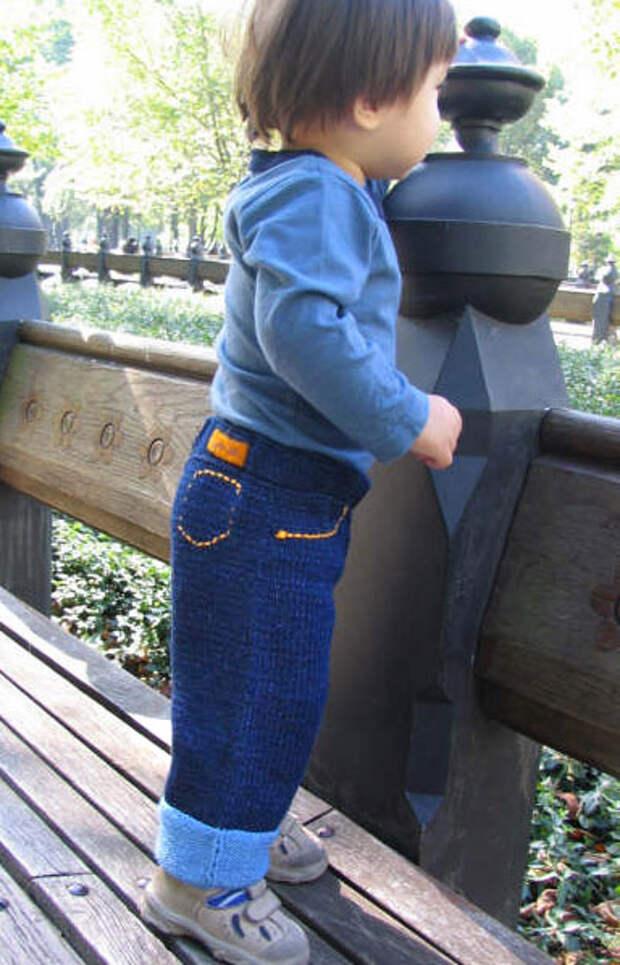 Вязаные «джинсы».