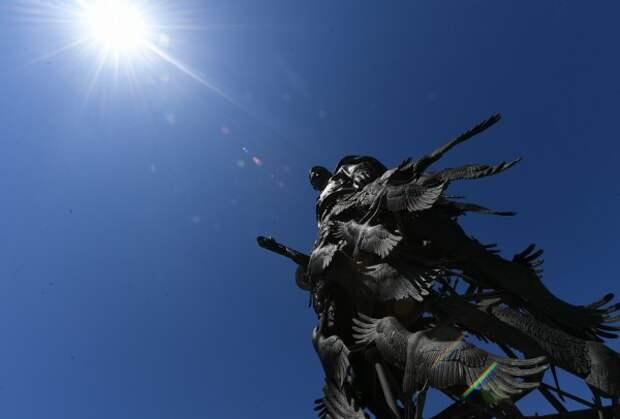 Ржевский мемориал Советскому солдату, Путин, Лукашенко, обращение ВВП к нации