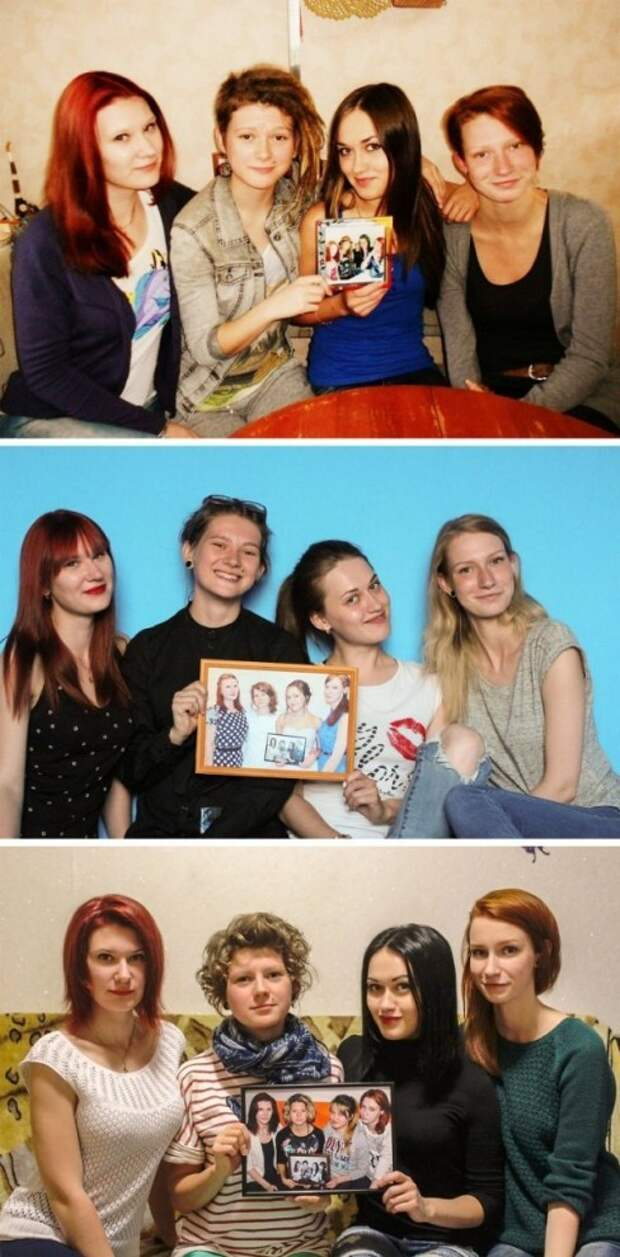 Подруги уже 6 лет делают совместное фото