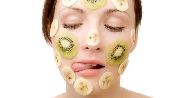 Маска для лица киви и бананом