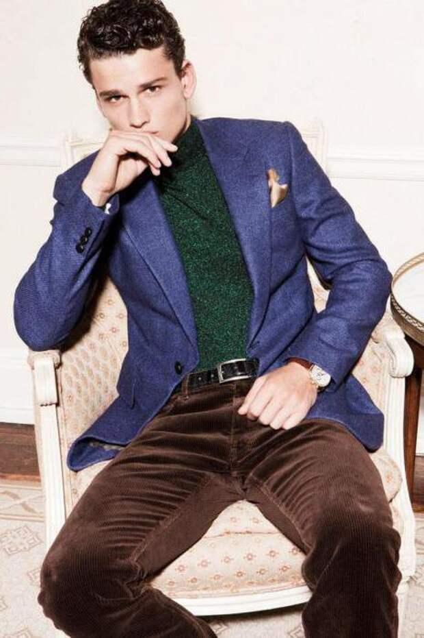 брендовый синий пиджак с чем носить