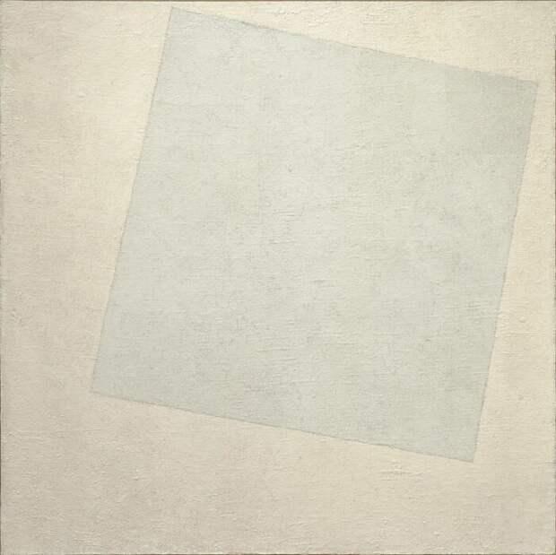 Супрематическая композиция – Белое на белом Казимира Малевича, 1918 год. \ Фото: pinterest.fr.
