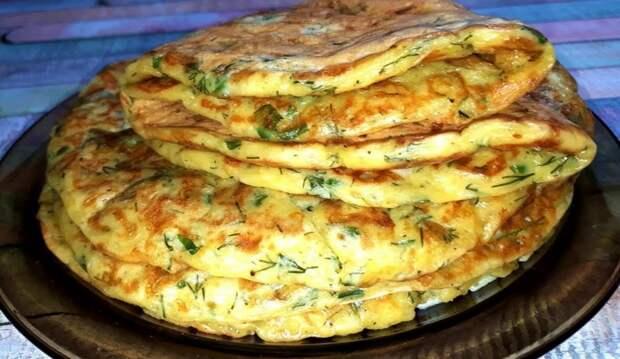 Завтрак за 10 минут, очень вкусно. Ленивые хачапури на кефире