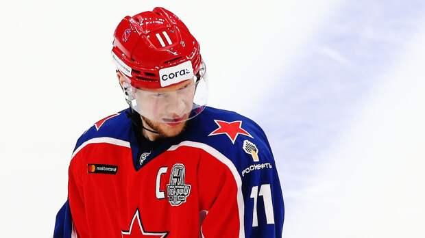 Капитан ЦСКА Андронов провел 100-й матч в плей-офф КХЛ