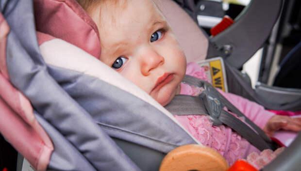 Подмосковная ГИБДД напомнила о важности использования детских кресел