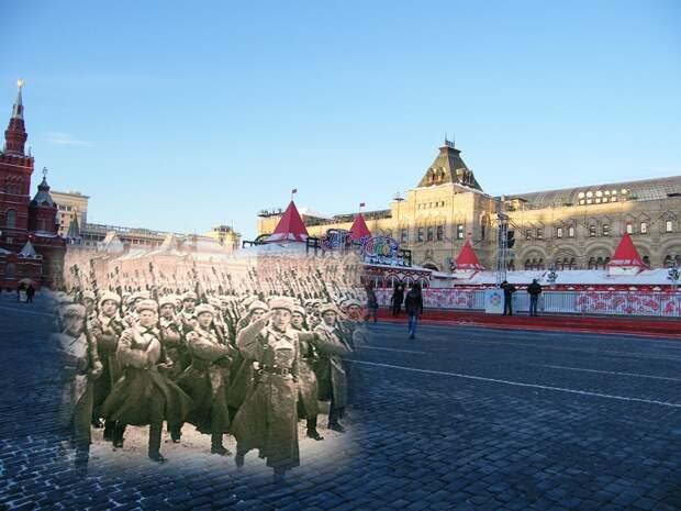 7 ноября 1941 — Парад на Красной площади. Связь времен.