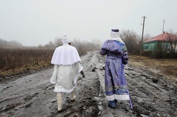 Иногда пешком весело, деревня, интересно, новый год, село, юмор
