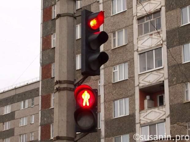 В Ижевске пьяный водитель сбил пробегавшего на «красный» пешехода