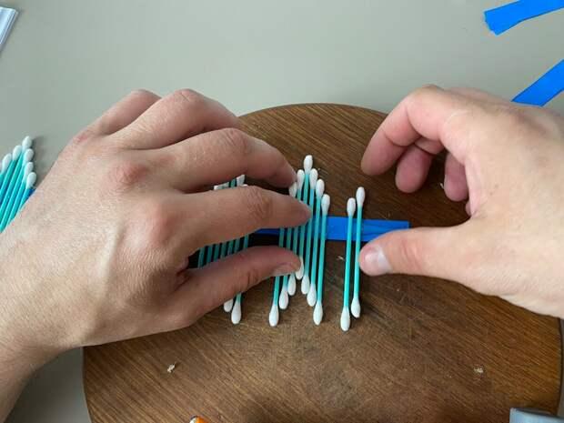 Берём обычные ватные палочки и делаем оригинальную вещь для дома