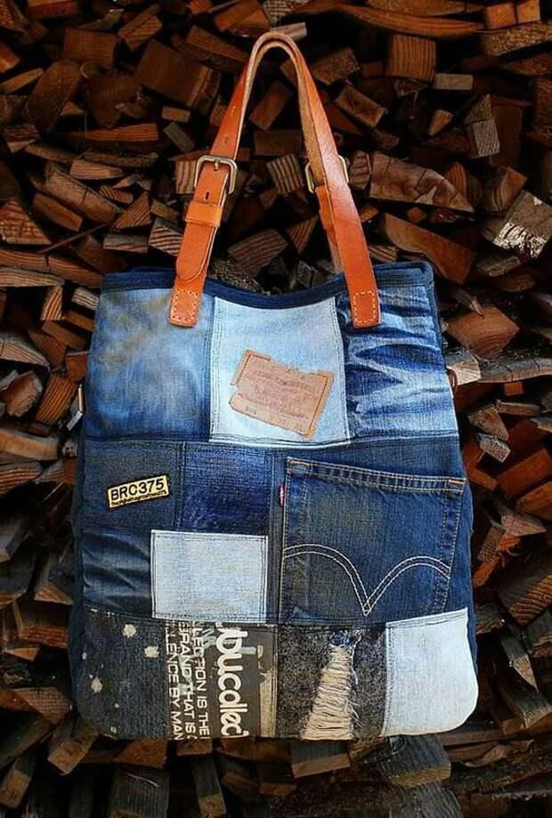 Джинсовая сумка (подборка)