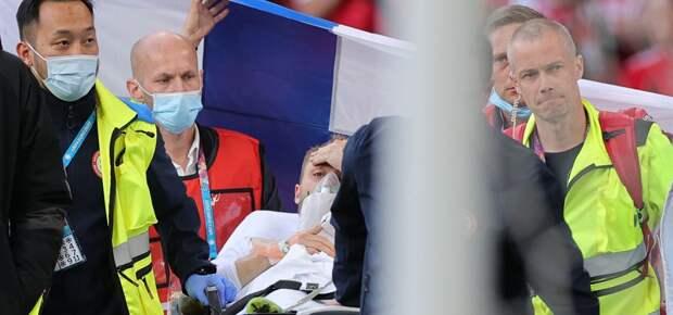 Потерявший сознание на матче Евро-2020 футболист пришел в сознание и госпитализирован