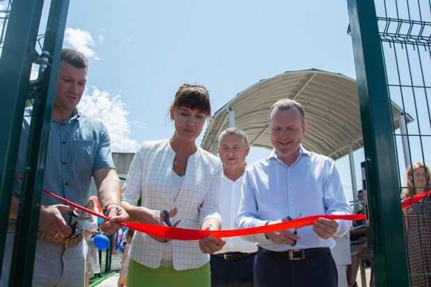 В крымском селе Заветное открыли новую спортивную площадку