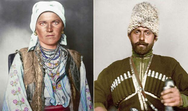 Цветные столетние фотографии иммигрантов, прибывших в США, раскрывают контраст культур