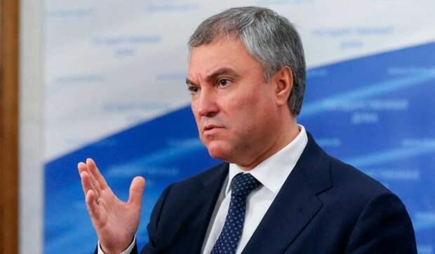 Володин призвал проверить эпидситуацию в открытых для россиян странах