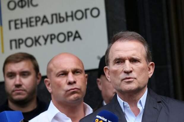 Глава политсовета ОПЗЖ Медведчук прибыл в офис генпрокурора Украины