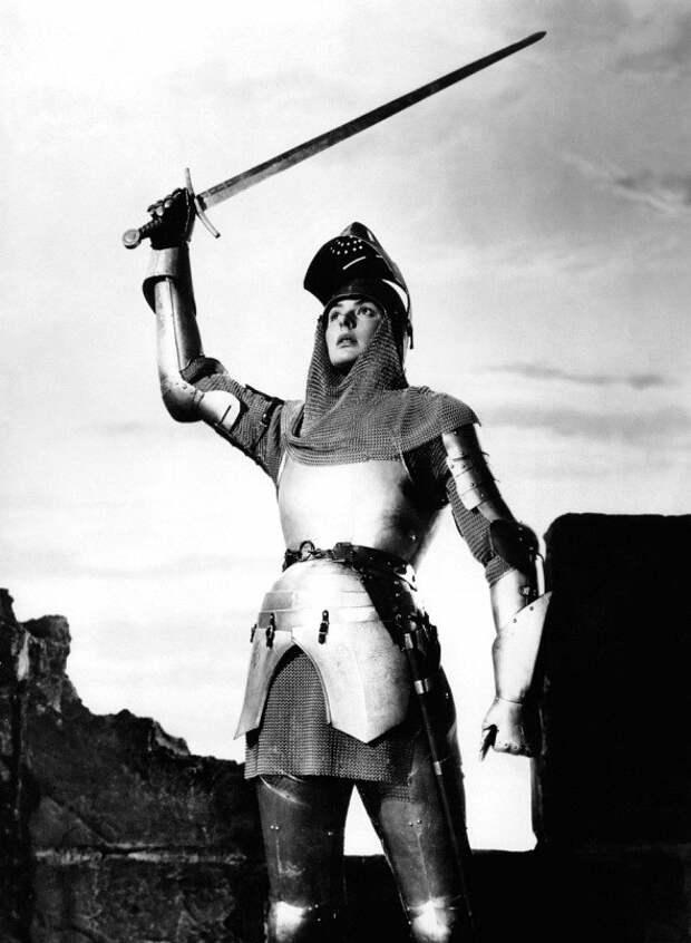 Ингрид Бергман в образе Жанны д' Арк, 1948 год.