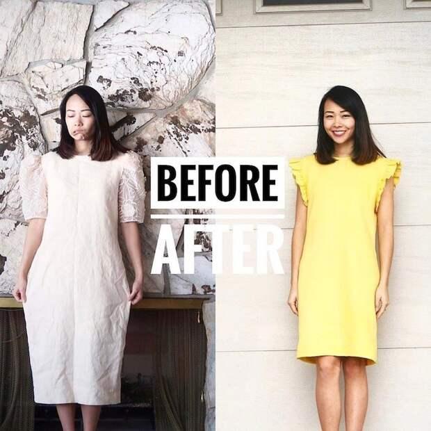 Женщина превращает некрасивую одежду в стильные наряды для себя и своих детей одежда, сделай сам
