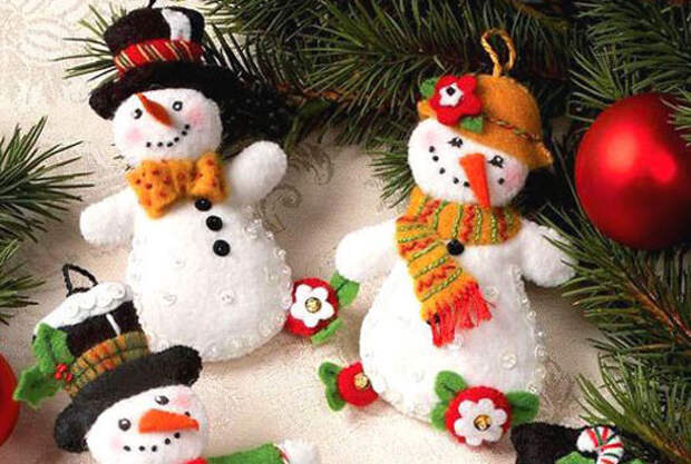 снеговички новогодние