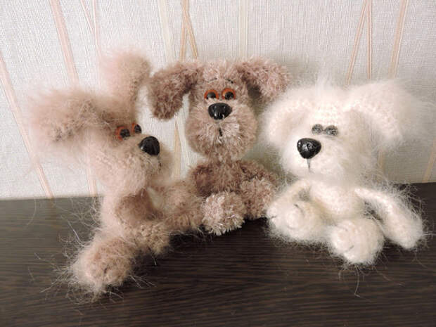 Амигуруми - Маленькие собачки крючком