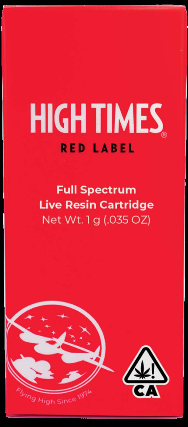 Introducing High Times' Red Label Vape Cartridges to California!