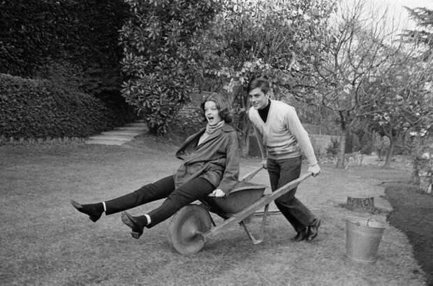 Ален Делон и Роми Шнайдер, 1959 г. история, ретро, фото