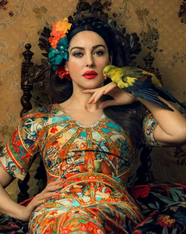 Несравненная Моника Белуччи в образе Фриды Кало для Dolce & Gabbana!