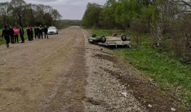 ВДальнереченском районе нетрезвый водитель опрокинул машину вкювет