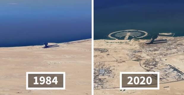 16 спутниковых снимков, показывающих, как наша планета изменилась за36 лет