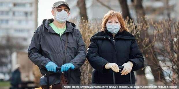 Более 25 тыс. кг продуктов доставили москвичам социальные работники. Фото: Пресс-служба Департамента труда и социальной защиты населения города Москвы