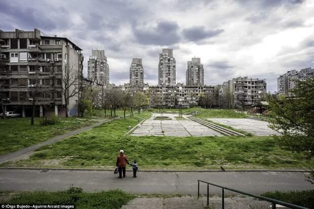 Жилой район в Белграде, Сербия