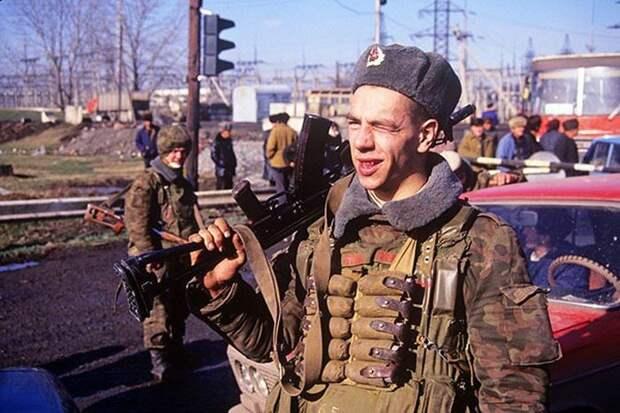 Бойцы МВД РФ в дни осетино-ингушского конфликта 1992 года СССР, прошлое, фото