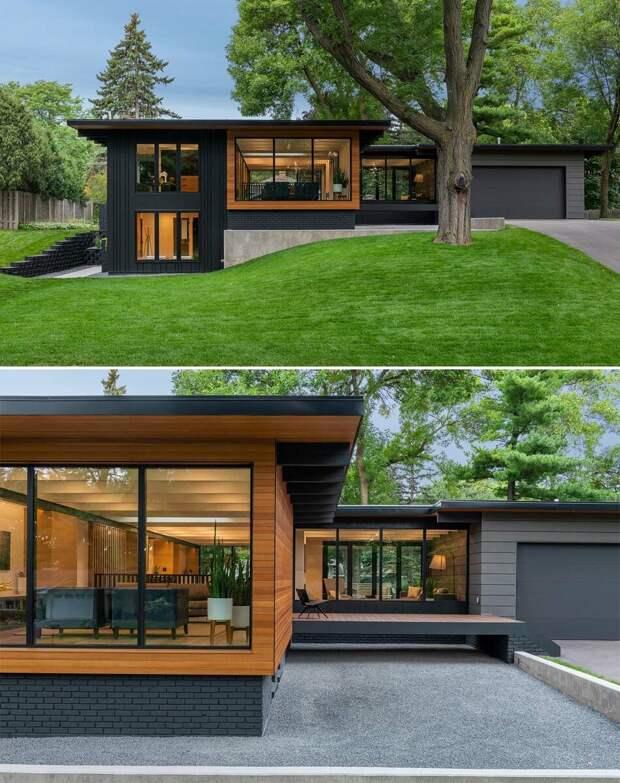 Красивый загородный дом после реконструкции