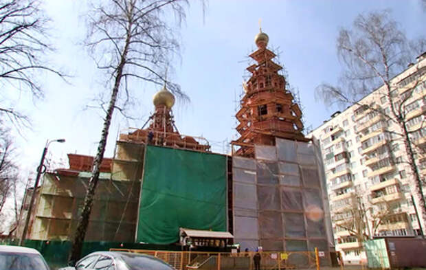 В Москве восстанавливают храм при бывшем приюте Бахрушиных