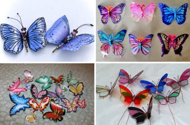 Бабочки из пластиковых бутылок своими руками
