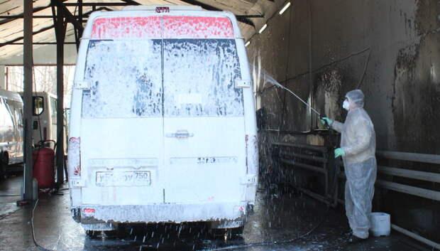 Более 3,8 млн литров антисептика потратили на обработку транспорта в Подмосковье за май