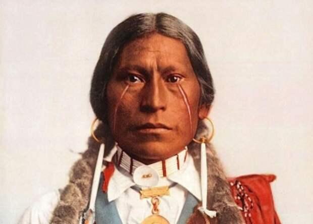 Американец разыскал цветные фото индейцев конца XIXвека