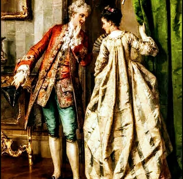 Людовик XIV и его любимая мадам Монтеспан