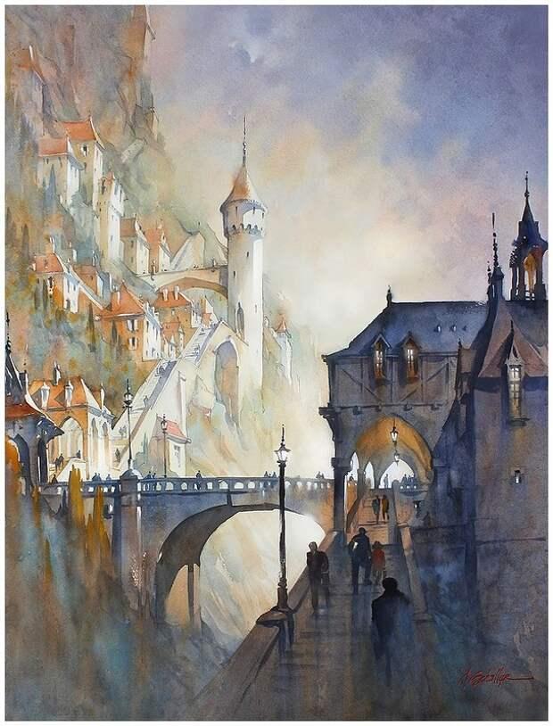 Акварельные пейзажи Томаса Шаллера